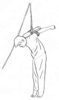 酷刑演示:上绳吊铐