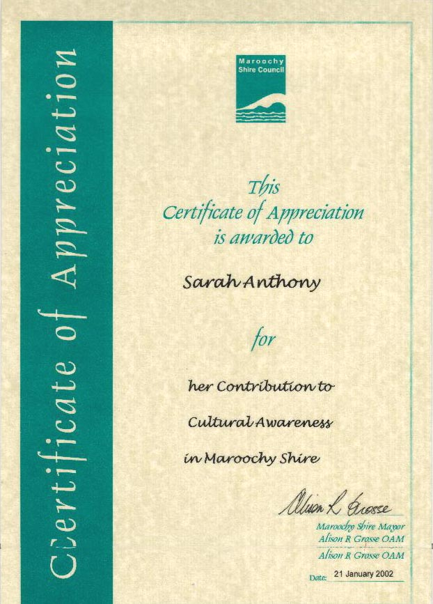 samples of certificates of appreciation