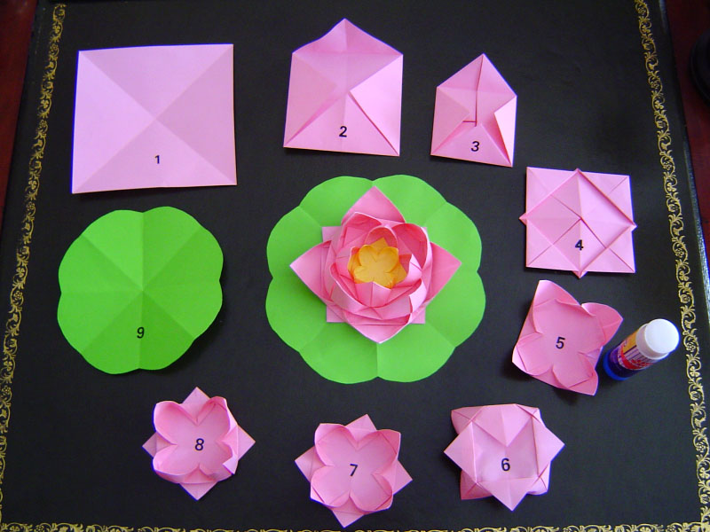 A story of making paper lotus flowers photos falun for How to make a lotus with paper