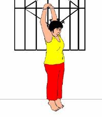 酷刑图:吊铐
