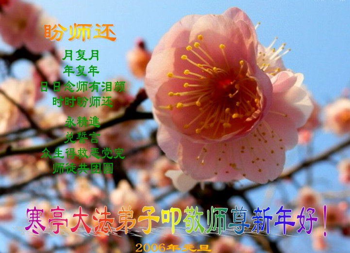 Falun dafa practitioners in china wish compassionate great master month after month year after year missing master everyday with running tears yearning for masters return every moment always moving forward diligently m4hsunfo Choice Image