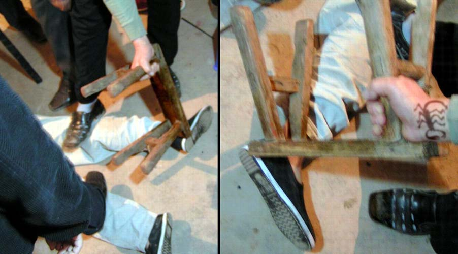 A Re Enactment Of The Torture Methods Used At The