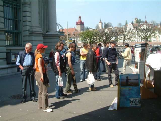 Exhibition Booth German : Lucerne switzerland people shocked by ccp crimes falun