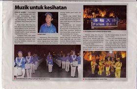 '马来西亚马来报章《Sinar Harian》于二零一零年九月四日,以彩色图文并茂报导了学员在国庆月的演出,其中包括法轮功的介绍。'