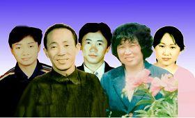彭敏(左上)、彭亮(上中)及全家