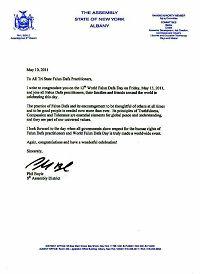 纽约州第八区众议员比尔•博伊尔的贺信