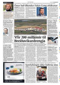 Fréttablaðið报纸报导冰岛外交部长斯卡费丁松代表政府对法轮功道歉