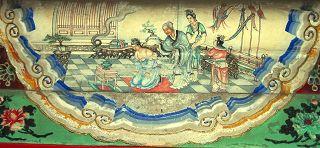 颐和园长廊彩绘中岳母刺字绘画