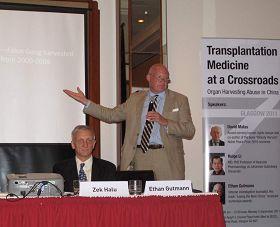 """伊森•葛特曼在""""反强摘器官医生协会""""组织英国研讨会上发言"""