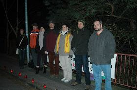 1月27日晚上,中使馆前,国会议员安德烈•道斯塔尔(Ondrej
