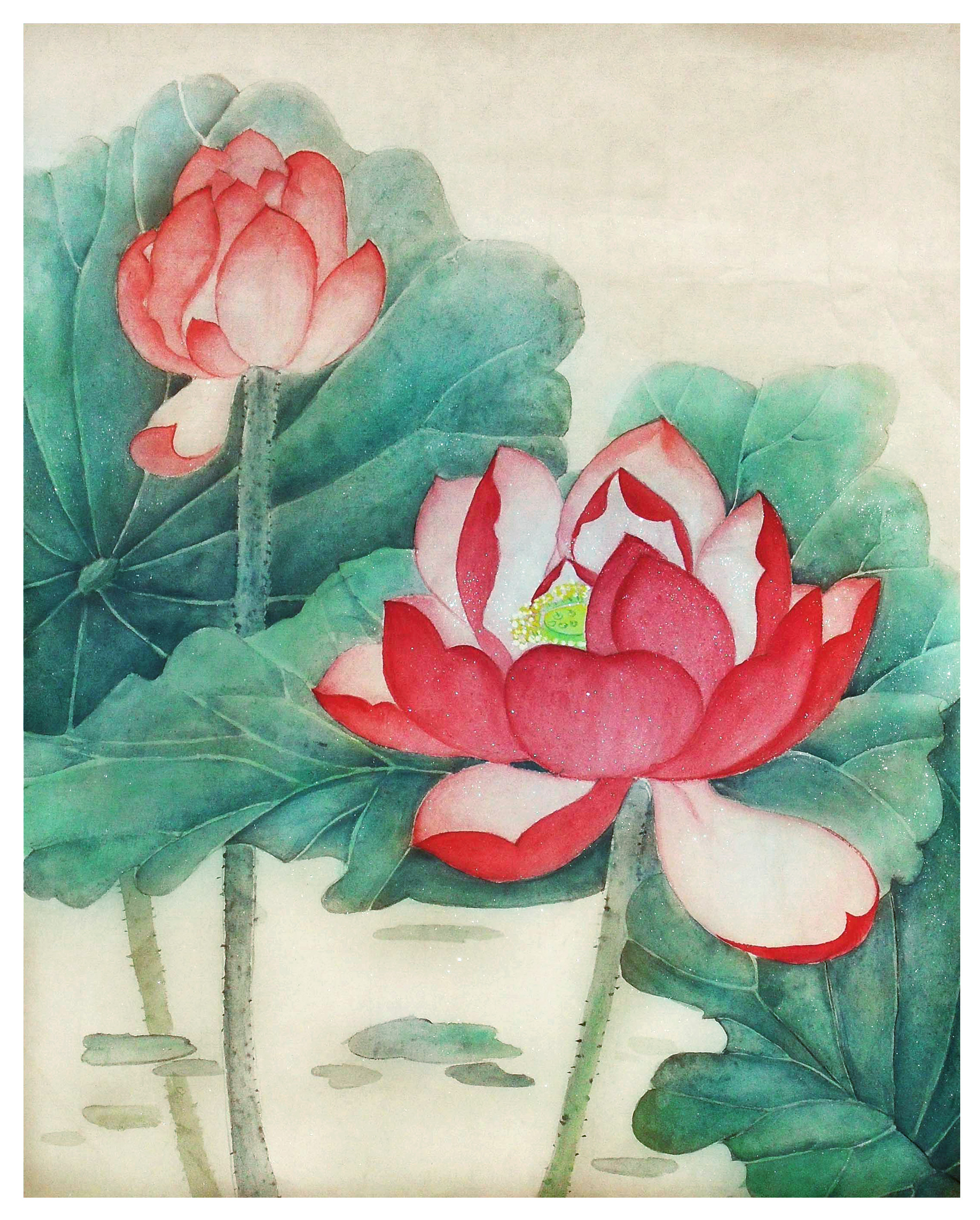 Selected submission meticulous painting lotus flower falun lotus flower izmirmasajfo