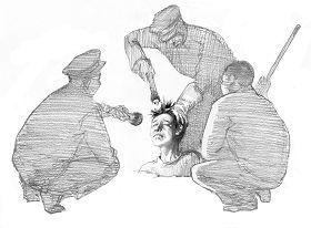 Ilustrasi Penyiksaan 15: Mengubur Hidup-hidup