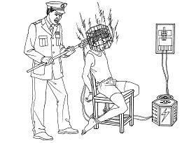 Ilustrasi Penyiksaan 16: Setrum Elektromagnetik