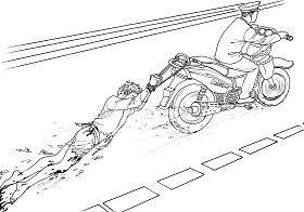 Ilustrasi Penyiksaan 18: Menyeret dengan Kendaraan