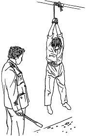 Ilustrasi Penyiksaan 20: Digantung di Udara