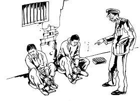 Ilustrasi Penyiksaan 22: Duduk di Bangku Kecil Tanpa Sandaran