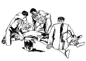 Ilustrasi Penyiksaan 24: Mencekok Kotoran dengan Paksa