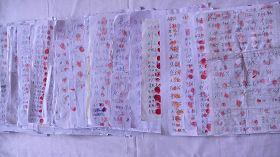 黑龙江省有超过一万五千民众为素不相识的法轮功学员挺身而出,在替父鸣冤的秦荣倩的《喊冤昭雪书》上签名并按上大红手印