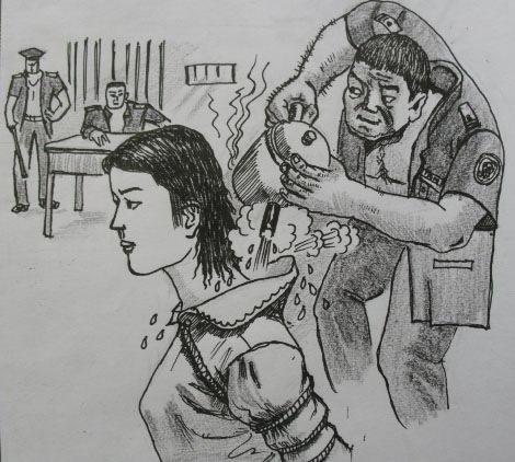 Folter Electro Prisoner Frauen
