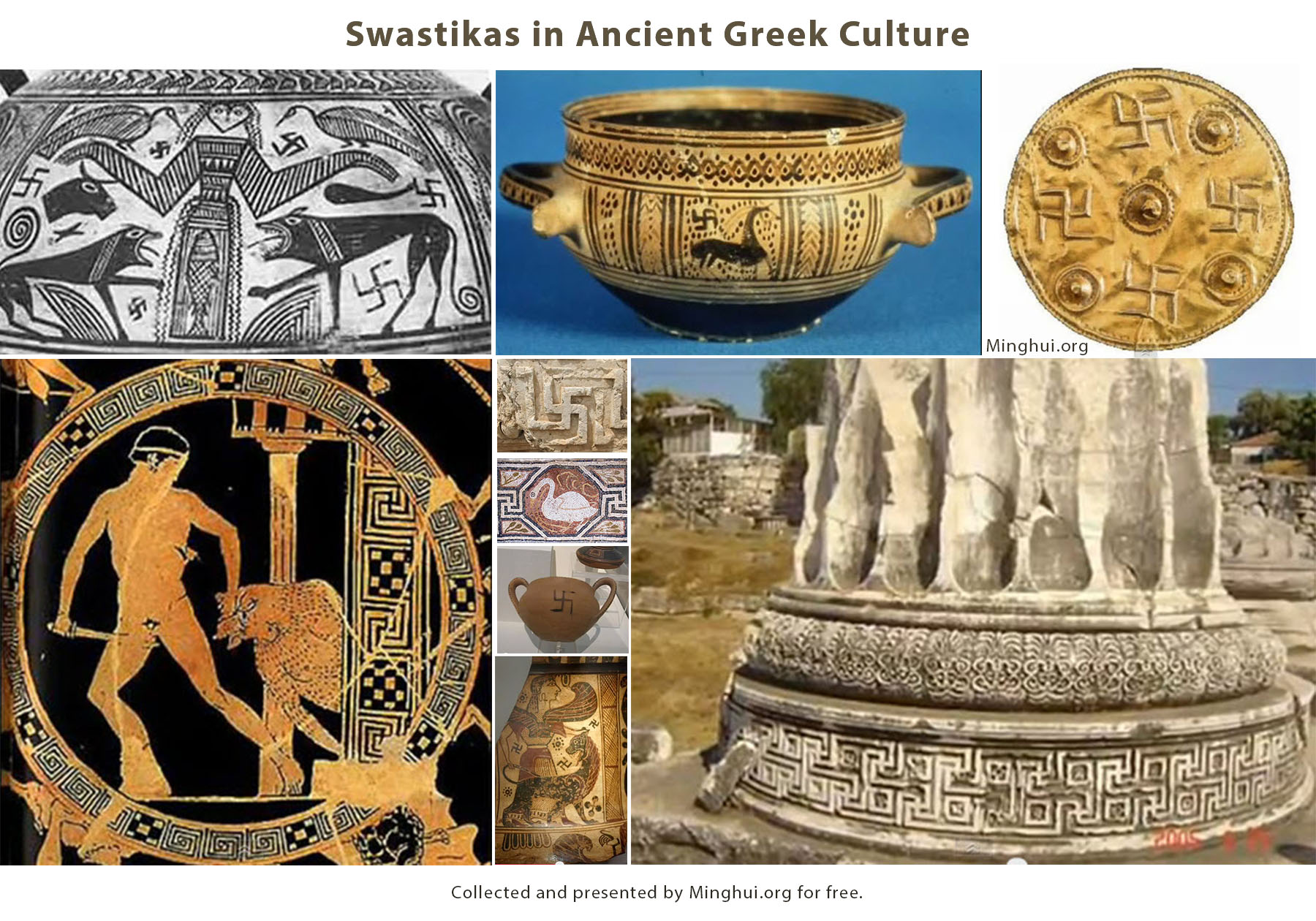 Swastikas in ancient greek culture falun dafa minghui the image above shows examples of the use of swastikas in ancient greek architecture pottery frescoes and more m4hsunfo