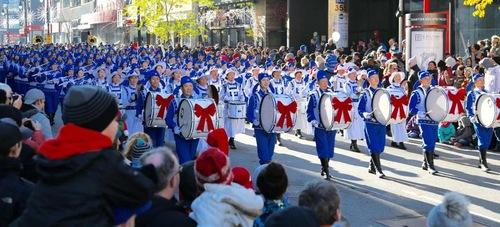 парад, оркестр, Фалуньгун, Канада
