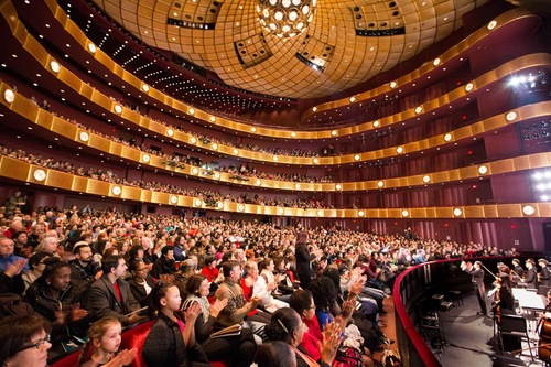 Penutupan acara di Lincoln Center di New York, NY