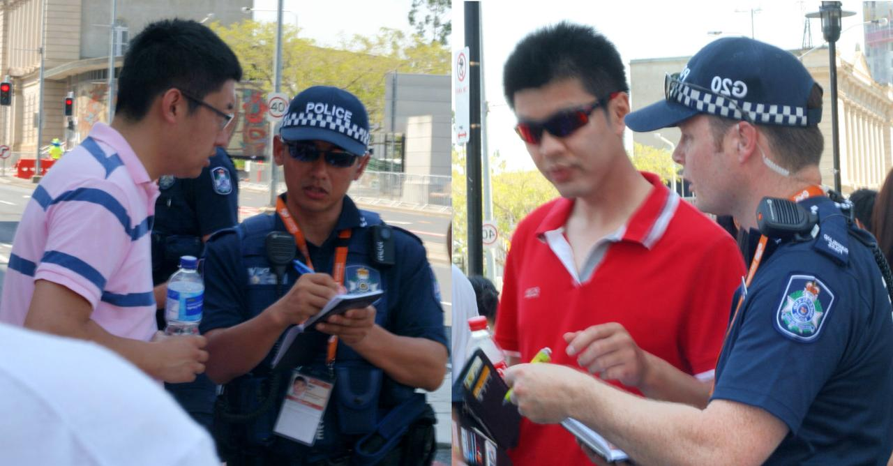 Australian Police Protect Falun Gong Protestors Rights