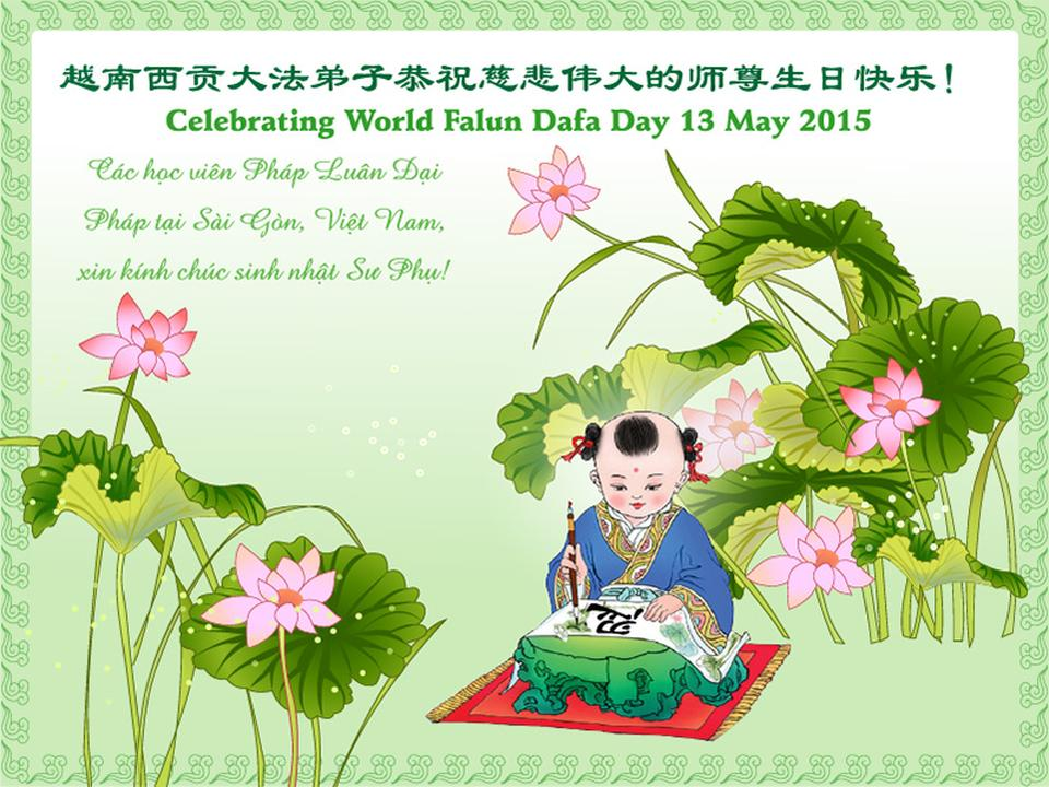Falun dafa practitioners in japan and vietnam celebrate world falun practitioners in japan and vietnam respectfully wish revered master a happy birthday m4hsunfo