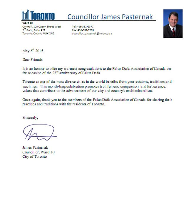 Canada Mayors And City Councilors Send Letters To Celebrate World