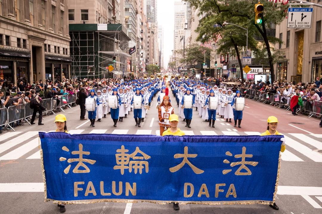 Falun Dafa Welcomed at New York's Columbus Day Parade