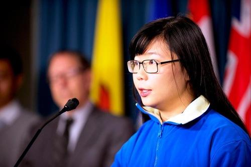Hope Chen, seorang mahasiswa di Universitas Toronto - anak dari korban penganiayaan