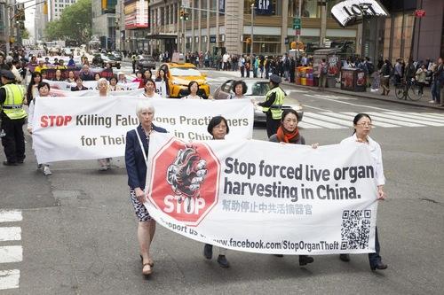 Menyerukan untuk dihentikannya pengambilan organ paksa dari praktisi hidup yang dipenjara karena keyakinan mereka oleh rezim komunis.
