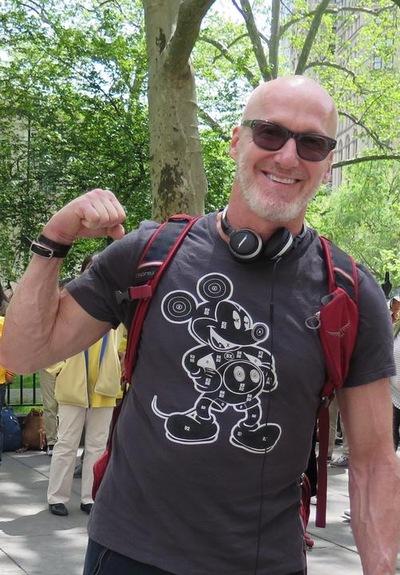 Eric Bymel, psikolog dari Israel, mendukung praktisi Falun Gong
