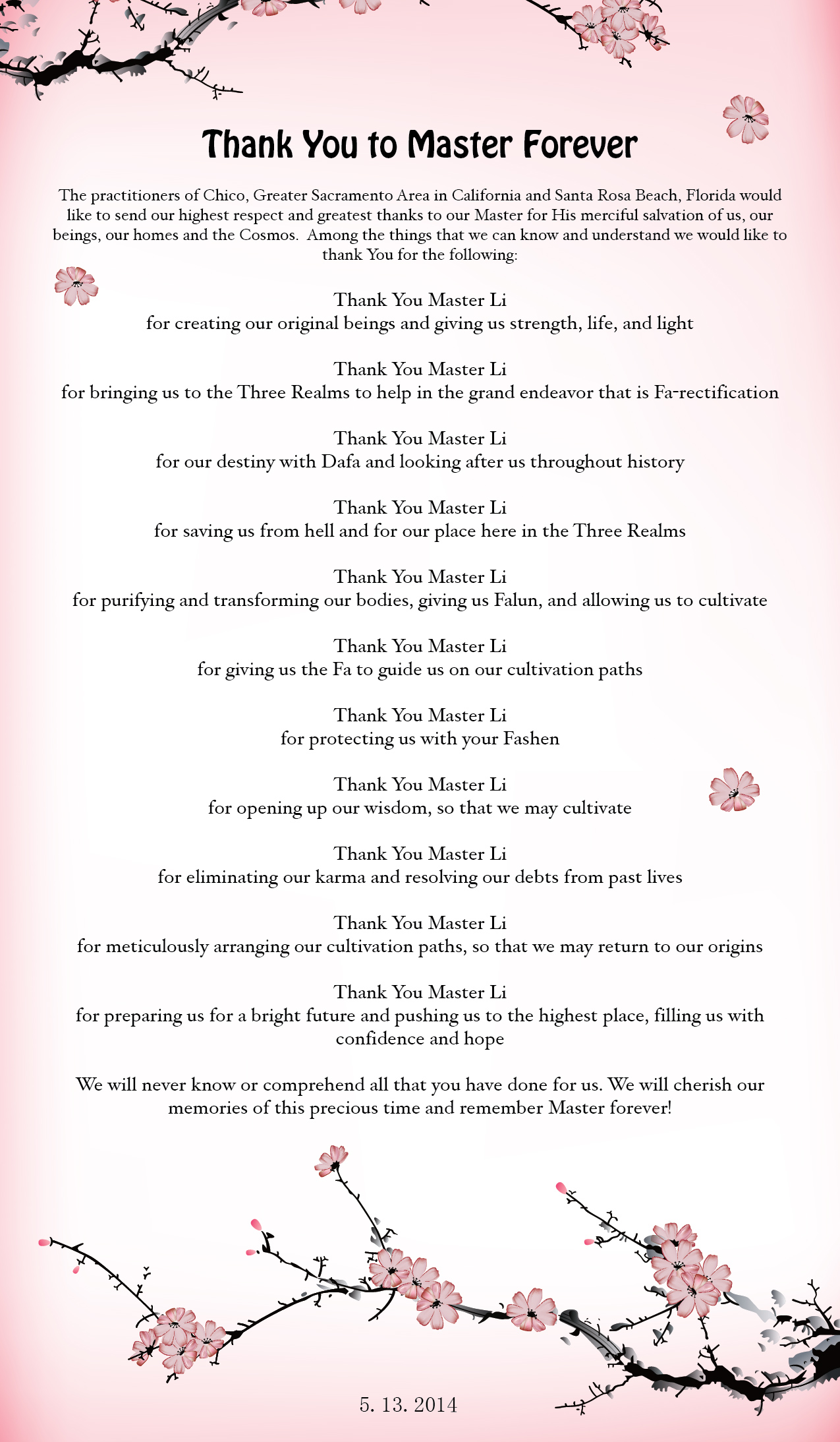 Praktisi Falun Dafa Dari Luar Tiongkok Merayakan 22 Tahun