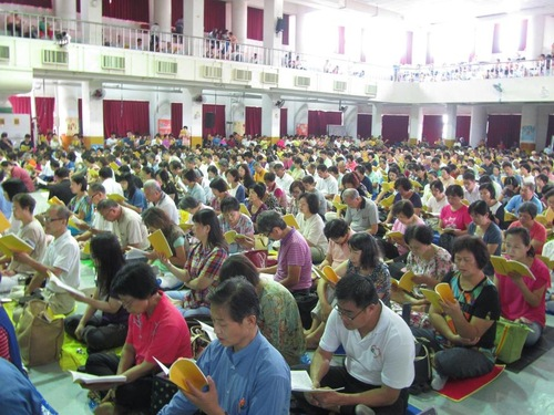 Praktisi Taiwan berkumpul untuk belajar Falun Gong bersama dan membagikan pengalaman mereka dalam menjangkau orang-orang di Tiongkok.