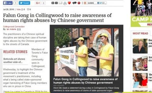 Artikel yang diterbitkan di Collingwood, Ontario.
