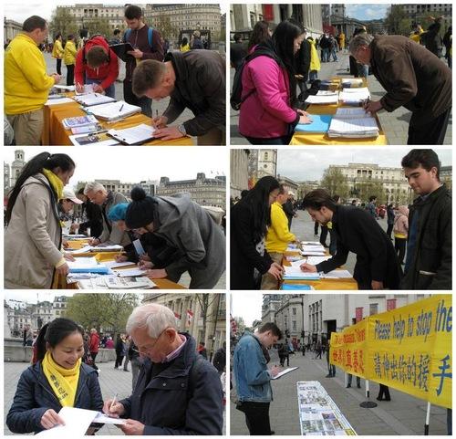 Menandatangani petisi untuk mendukung tuntutan hukum terhadap Jiang Zemin