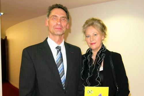 Serge Gouteyron, administrator sipil di Distrik Aix-en Provence, menghadiri pertunjukan di Grand Theatre de Provence di Prancis pada 9 Maret
