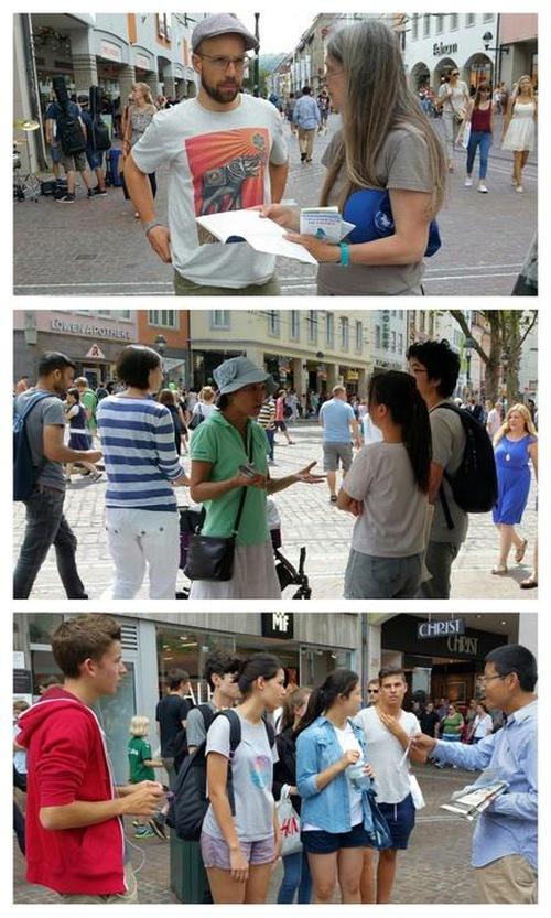 Praktisi berbicara kepada para pengunjung tentang penganiayaan