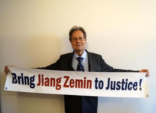 Prof. Dr. Klaus Buchmer menyerukan lebih banyak dukungan atas tuntutan hukum terhadap Jiang Zemin
